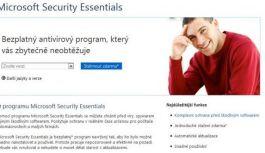 Čtvrtá verze Microsoft Security Essentials zdarma ke stažení