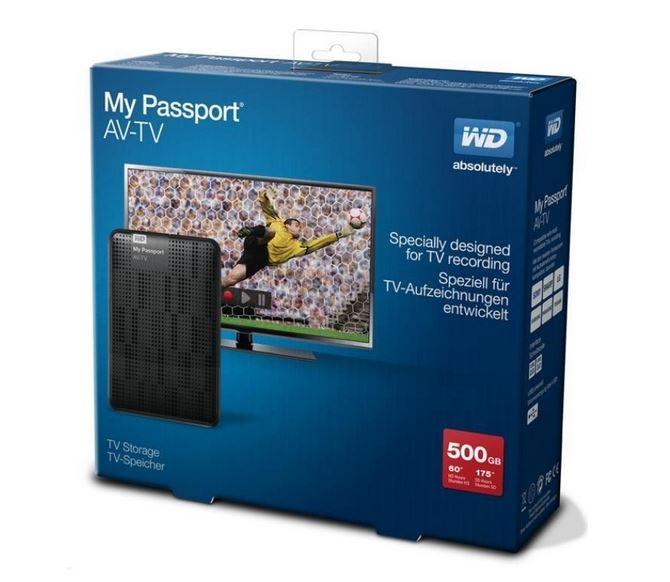 WD My Passport AV-TV 500GB
